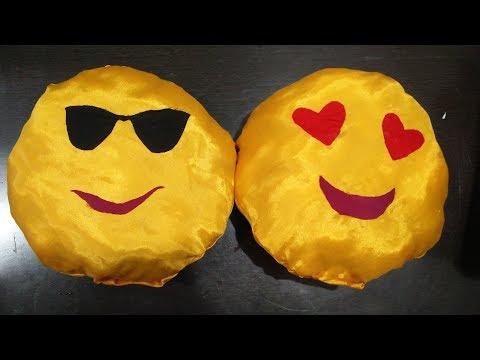 DIY Emojis Pilllow using Waste Material | Enjoy Crafting # 69
