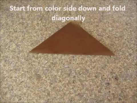 How to Fold Origami Turkey (Turkey in the Straw Techno Remix)