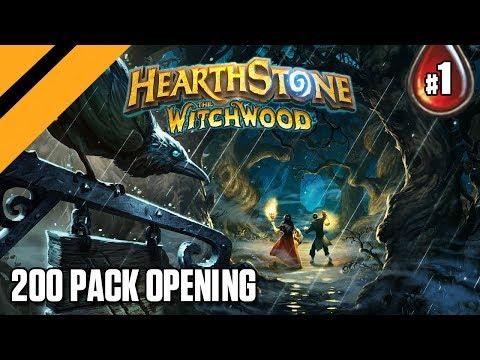 Hearthstone: The WitchWood - 200 Pack Opening - P1