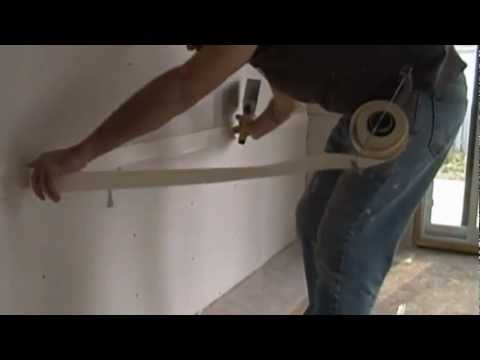 How to use a compound tube to tape drywall flat and angle joints.