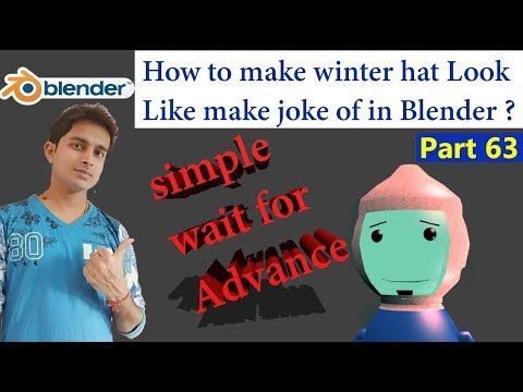 How to make winter hat Look Like make joke of in Blender 3d Animation part 63 In Hindi