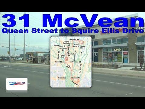 31 McVean - Brampton Transit 2009 Nova Bus LFS 0903 (Queen Street to Squire Ellis Drive)