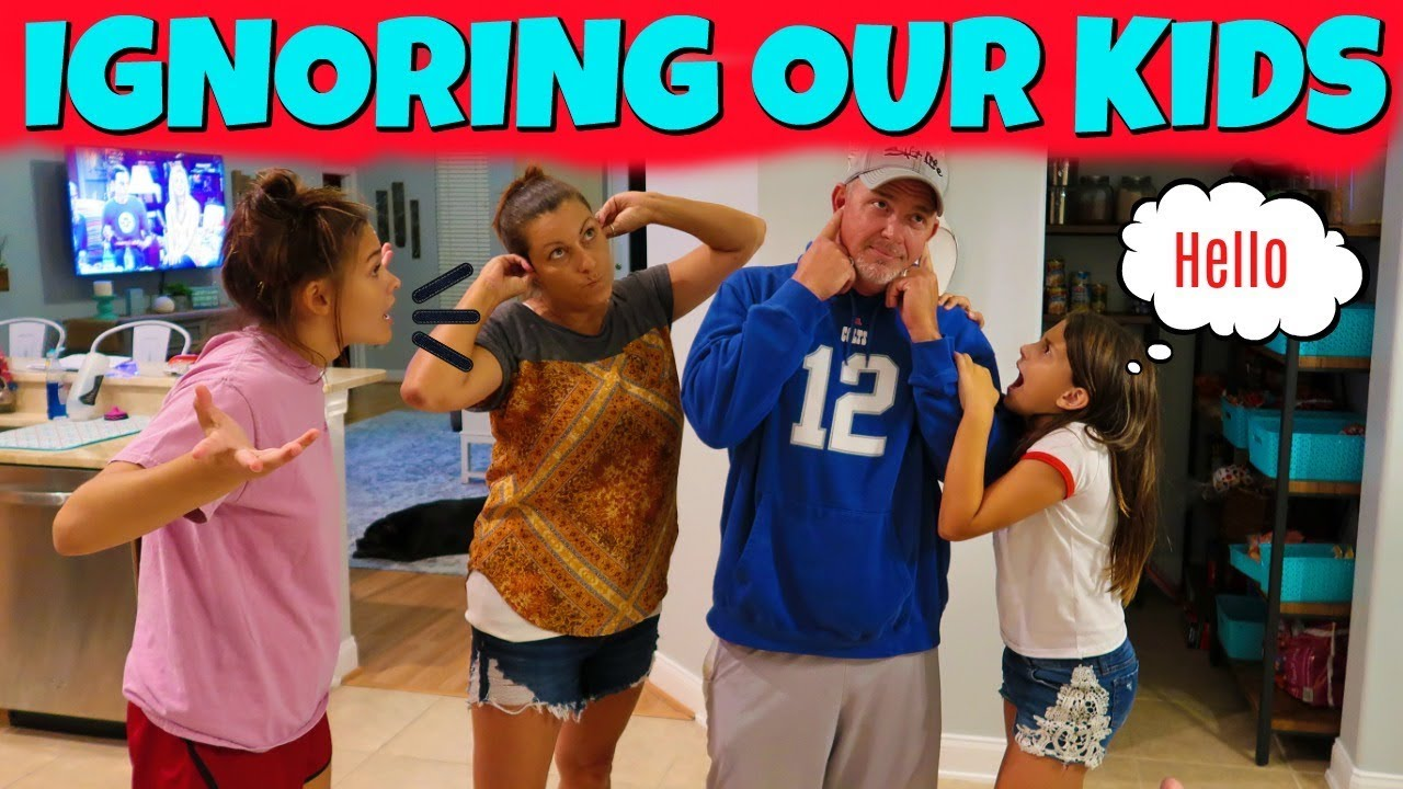 IGNORING Our KIDS For 24 HRS PRANK! | Emma and Ellie
