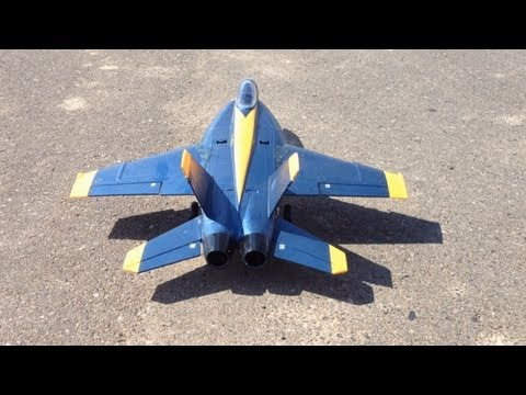 Scale Flying with my RC Blue Angel F-18 Hornet 64mm EDF Jet Plus Bonus Take-Offs and Landings