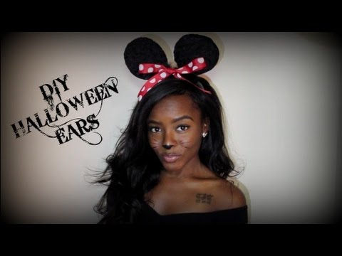 HOW TO: DIY Halloween Costume Ears ! THREE diff types. Last minute &  EASY!!