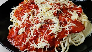 HOW TO MAKE THE EASIEST SIMPLE CHEESY PINOY STYLE SPAGHETTI THAT IS BETTER THAN TAKE OUT!!!