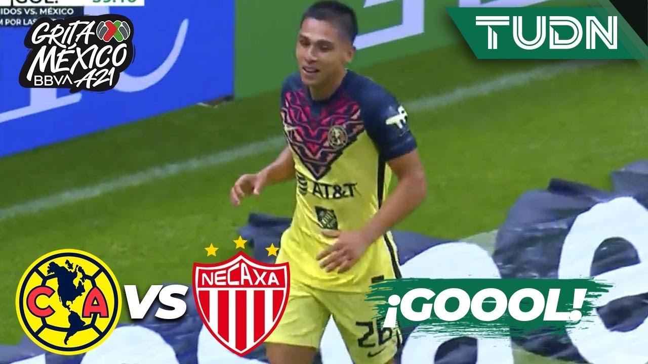¡Gol del Ame! ¡Gol de Salvador Reyes! | América 1-0 Necaxa | Grita México BBVA AP2021 - J2 | TUDN
