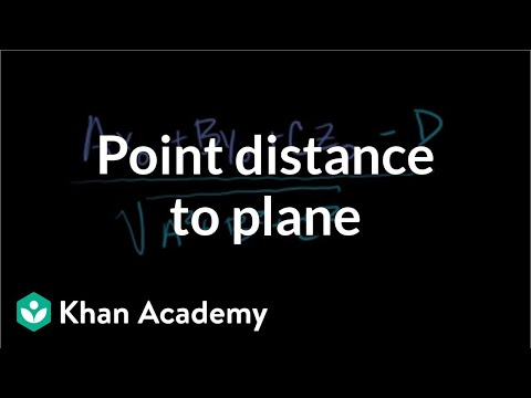 Point distance to plane | Vectors and spaces | Linear Algebra | Khan Academy