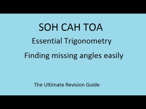 Basic Trigonometry : SOHCAHTOA : finding angles using sine, cosine and tangent