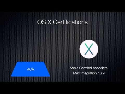 Mavericks Mac OS X Certifications Overview