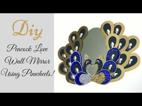 Diy Love Peacock Mirror| Inexpensive Wall Mirror Decor idea!
