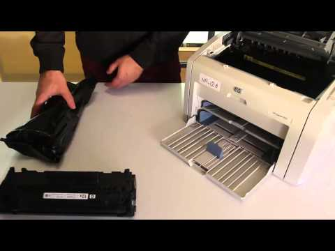 How to Replace Toner Cartridge Q2612A to HP Printer 1022 or Similar Models