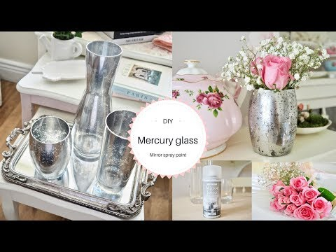 Mirror spray paint DIY, Mercury glass effect