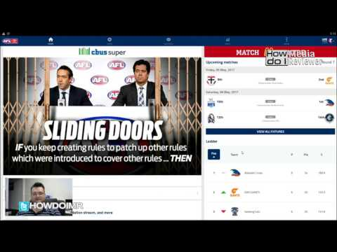 How to  watch AFL on your phone