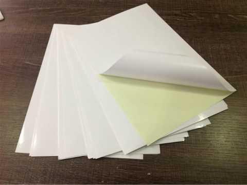 Glossy white paper adhesive vinyl for printing