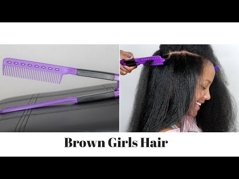 Straightener Hair Styling V Shape Comb Review