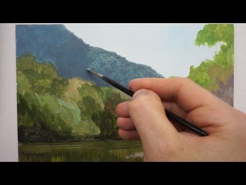 #6 Landscape Painting Techniques On Panel | Oil Painting Tutorial