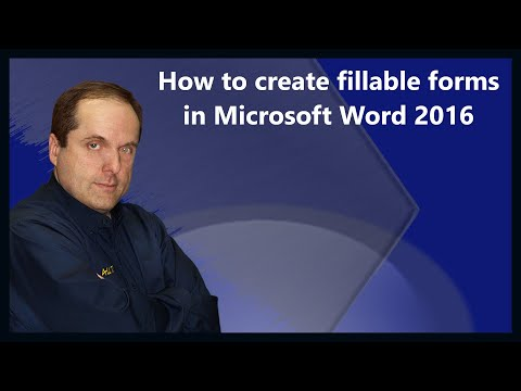 How to create fillable forms in Microsoft Word 2016