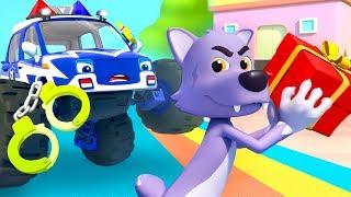 Police Truck Chases Big Bad Wolf | Police Cartoon | Nursery Rhymes | Kids Songs | BabyBus