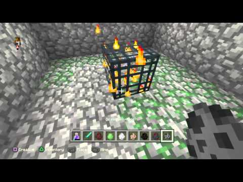Minecraft: PlayStation®4 how to change spawner types