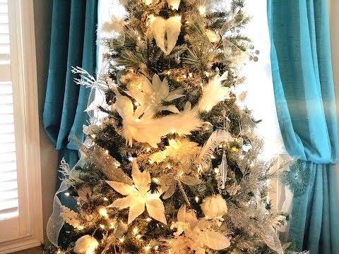 Glam Christmas Tree Reveal - (Untraditional Winter Wonderland)