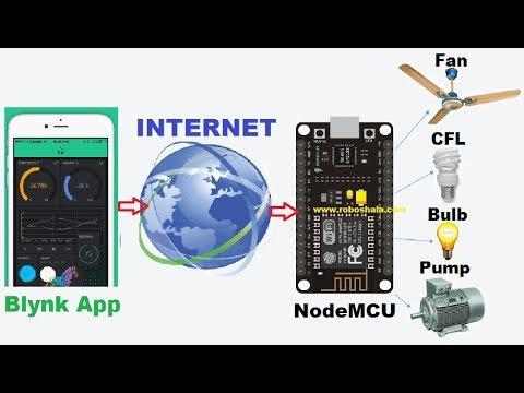 Home Automation Via Internet | Blynk App Hindi