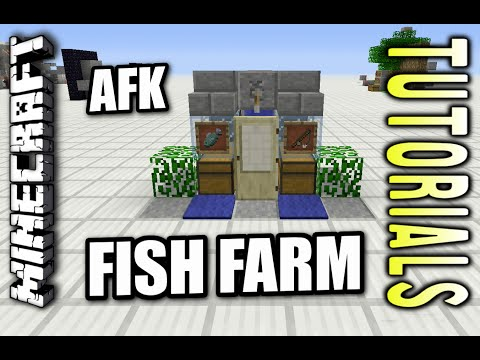 Minecraft PS4 - AFK FISH FARM - Tutorial ( PS3 / XBOX / WII U )