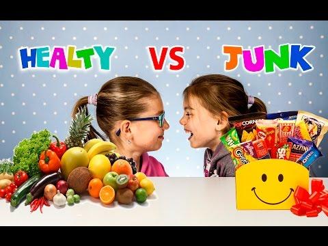 Healthy food vs Junk food Challenge | Sweet vs real food | Kids challenge