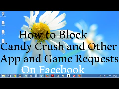 how to block candy crush request and other game requests on facebook