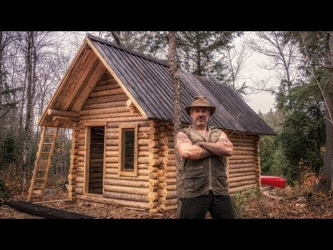 Man Builds Off Grid Log Cabin Alone in the Canadian Wilderness