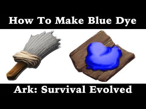 How To Make Blue Dye - Paint - Ark: Survival Evolved