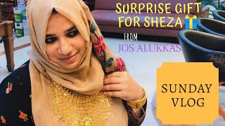 Sunday Vlog/Surprise Gift for Sheza/Jos Alukkas/Chicken Majboos Recipe