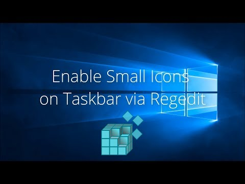 Enable Small Icons on Taskbar via Regedit