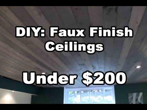 DIY: Amazing Faux Finish Wood Ceilings under $200 Bucks