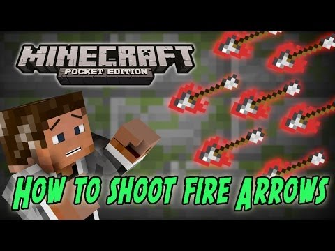 Minecraft PE: How To Shoot Fire Arrows