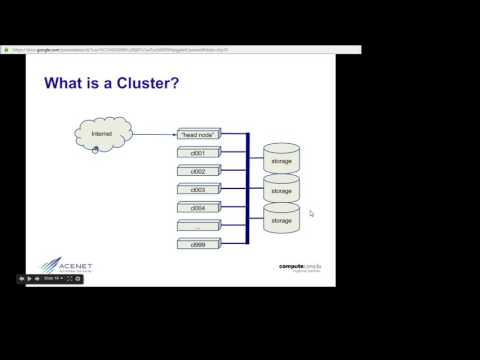 What's a cluster?