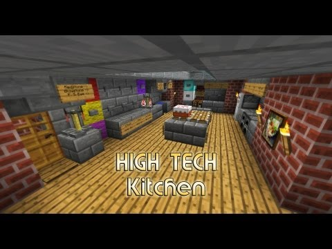 High Tech Kitchen / House - small and easy - Minecraft