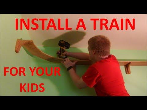 Installing a Model Train in Your Kids' Bedroom
