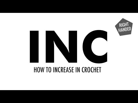 How to Increase for Crochet (INC):: Crochet Increase :: Right Handed