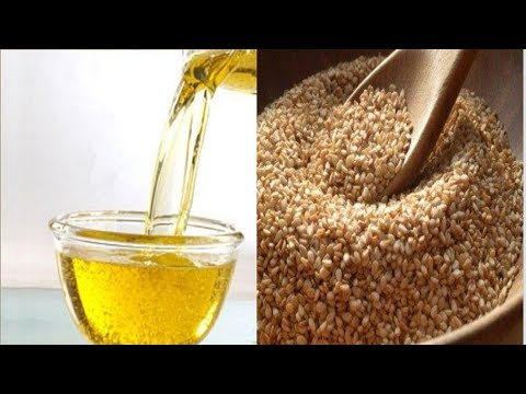 How to make Sesame oil DIY at home, for skin elasticity and minimize hair loss.