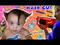 Shawn's 1st Haircut ♪ FUNNY FAILS  Rock N Roll Baby FUNnel Vlog