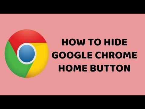 How to Hide Google Chrome Home Button   Google Chrome Tutorial in Hindi