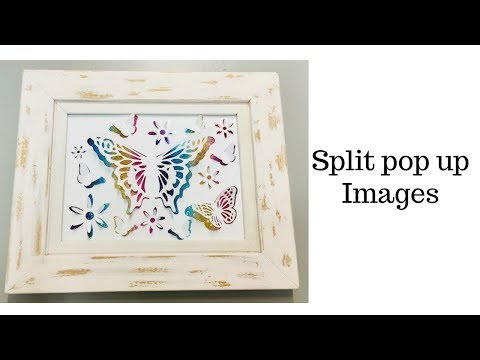 Cricut split pop up effect