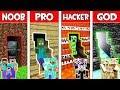 Minecraft NOOB Vs PRO Vs HACKER Vs GOD FAMILY SECRET ROOM In Minecraft Animation
