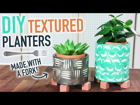 DIY Clay Planter from an Old Glass Jar and a Fork! - HGTV Handmade