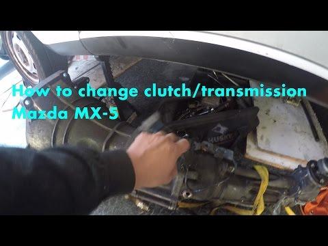 How to change clutch/transmission/flywheel Mazda miata mx-5