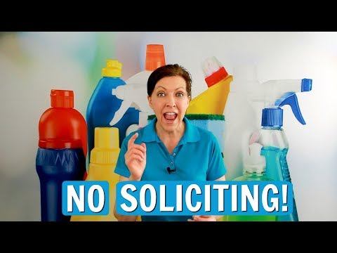 No Soliciting - Where Do You Put House Cleaning Flyers?