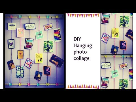DIY Hanging Photo Collage | Polaroid Display  Photo Wall hanging