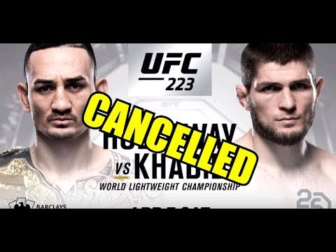 Khabib vs Max Holloway has been Cancelled | Holloway deemed unfit to fight