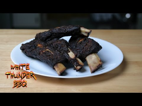 Chili Rubbed Beef Ribs on the Weber with the Slow 'N Sear | How to Smoke BEER RIBS!